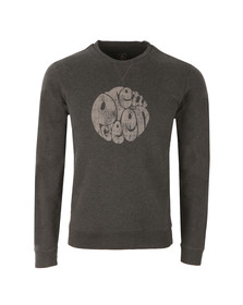 Pretty Green Mens Grey Heyland Crew Sweat