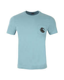 CP Company Mens Blue Viewfinder Pocket T Shirt