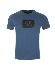 CP Company Mens Blue Stamp Logo T Shirt