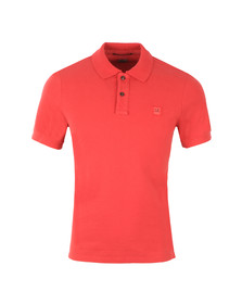 CP Company Mens Red Regular Fit Plain Polo