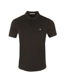 CP Company Mens Black Small Logo Jersey Polo Shirt
