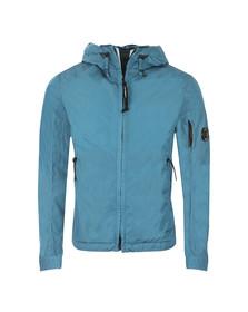 CP Company Mens Blue Nylon Chrome Hooded Jacket