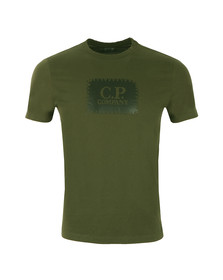 CP Company Mens Green Stamp Logo T Shirt