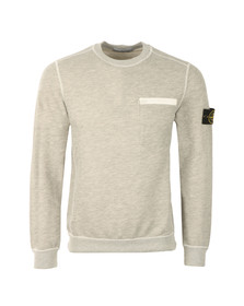 Stone Island Mens Grey Zip Pocket Light Sweatshirt