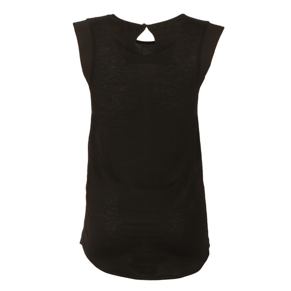 French Connection Womens Black Polly Plains Capped Tee main image