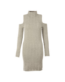 French Connection Womens Grey Mozart Ladder Knit Dress