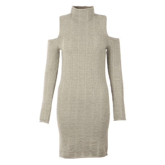 French Connection Womens Grey Mozart Ladder Knit Dress main image