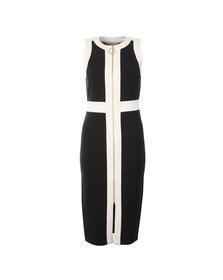 Michael Kors Womens Blue Sleeveless Contrast Zip Front Dress