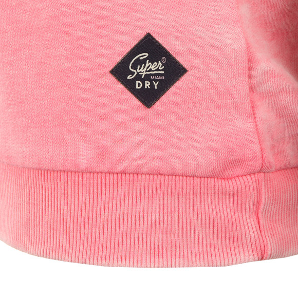 Superdry Womens Pink Burnout Pastel Crew Sweat main image