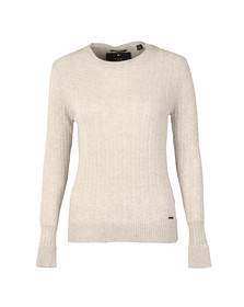Superdry Womens Grey Luxe Mini Cable Knit