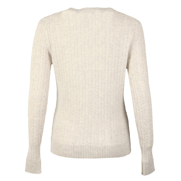 Superdry Womens Grey Luxe Mini Cable Knit main image