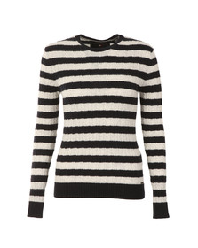 Superdry Womens Blue Luxe Mini Cable Stripe Knit