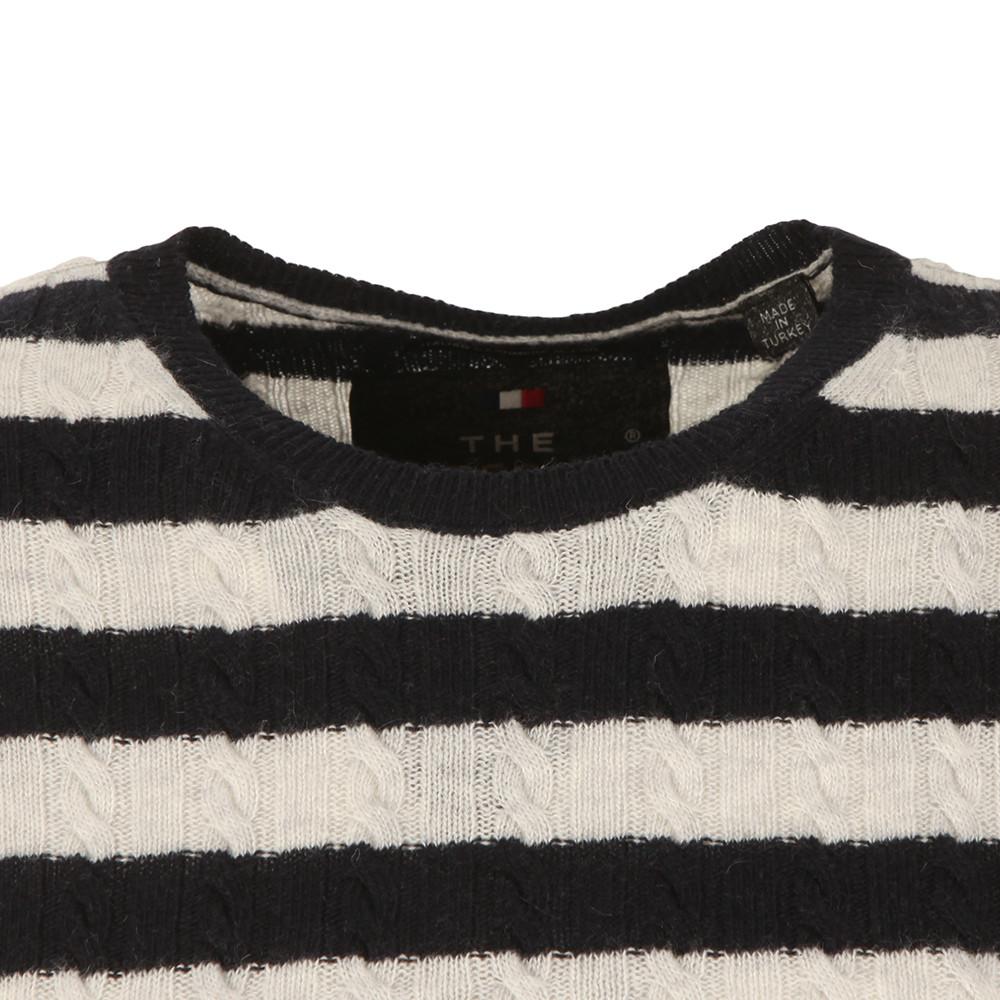 Luxe Mini Cable Stripe Knit main image