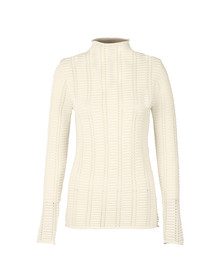 French Connection Womens White Mozart Hi Neck Ladder Knit