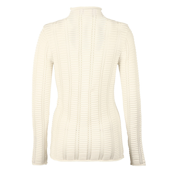 French Connection Womens White Mozart Hi Neck Ladder Knit main image