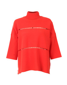 French Connection Womens Red Milano Mozart High Neck Knit