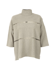 French Connection Womens Grey Milano Mozart High Neck Knit