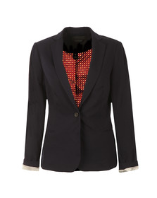 Maison Scotch Womens Blue Basic Tailored Blazer