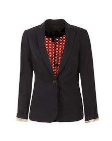 Maison Scotch Womens Blue Basic Tailored Blazer
