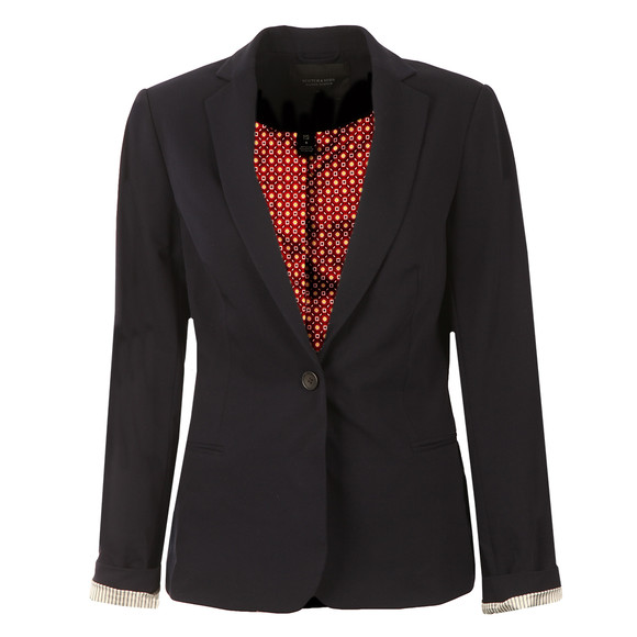 Maison Scotch Womens Blue Basic Tailored Blazer main image
