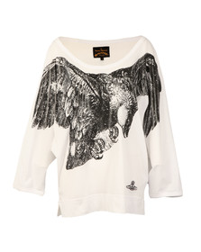 Vivienne Westwood Anglomania Womens White Eagle Batwing T Shirt