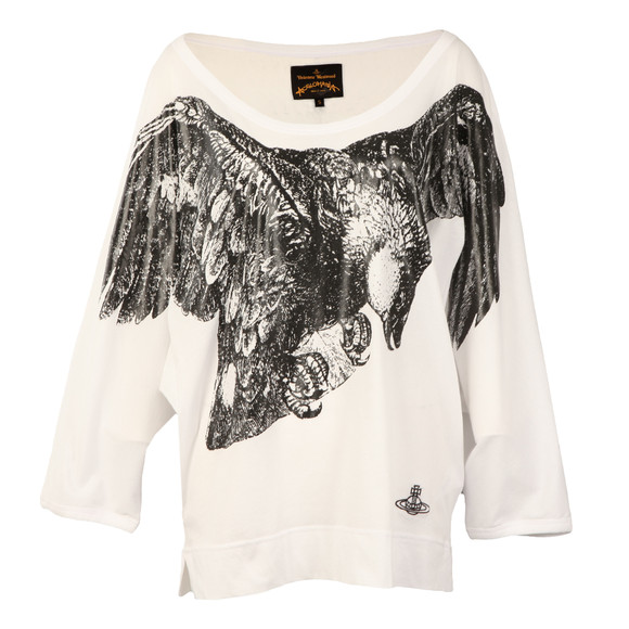Vivienne Westwood Anglomania Womens White Eagle Batwing T Shirt main image