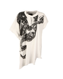 Vivienne Westwood Anglomania Womens White Snake Squiggle T-Shirt