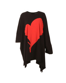 Vivienne Westwood Anglomania Womens Black Elephant Hole Heart Top
