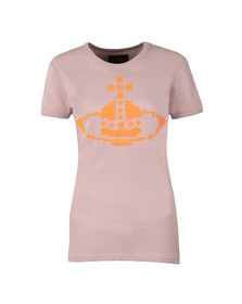 Vivienne Westwood Anglomania Womens Purple Embroidered Orb T Shirt