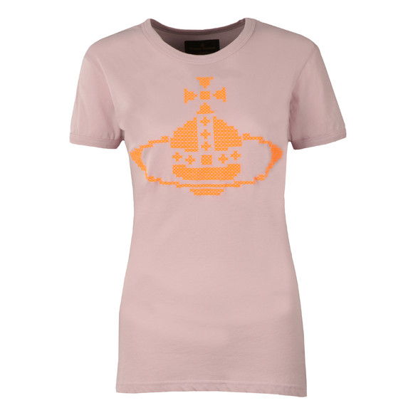 Vivienne Westwood Anglomania Womens Purple Embroidered Orb T Shirt main image