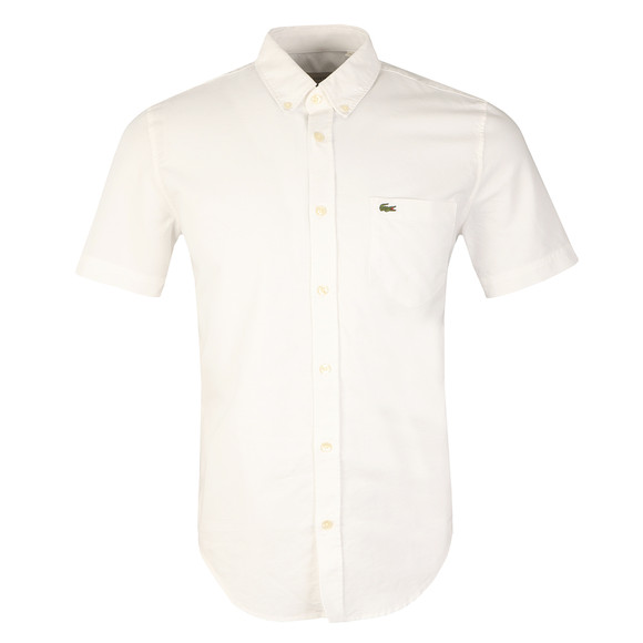 Lacoste Mens White S/S CH2294 Shirt main image