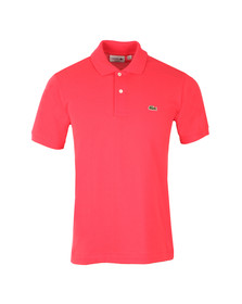 Lacoste Mens Pink L1212 Plain Polo Shirt