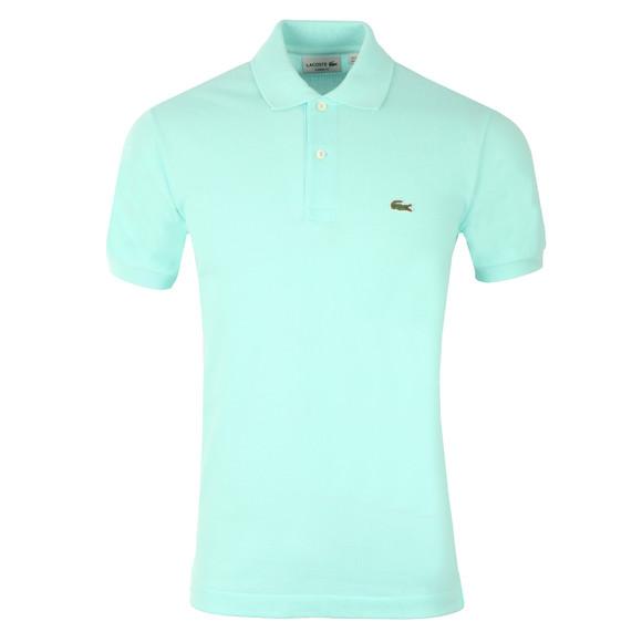 Lacoste Mens Green L1212 Plain Polo Shirt main image