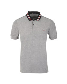 Fred Perry Mens Blue Bomber Stripe Pique Polo Shirt