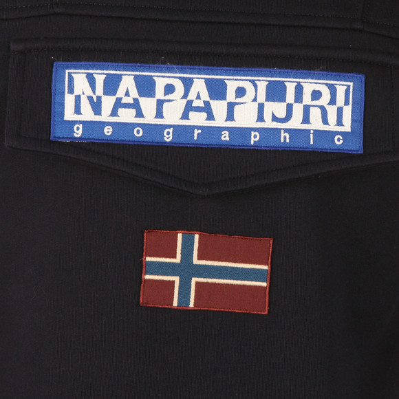 Napapijri Mens Blue Burgee Hooded Sweat main image