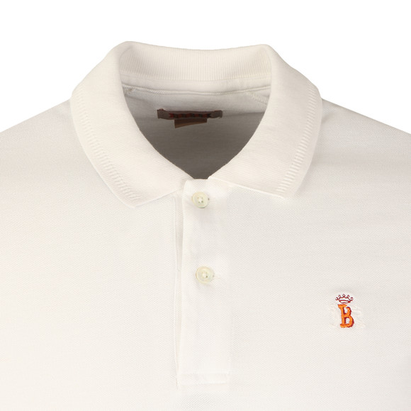 Baracuta Mens Off-white Pique Polo Shirt main image