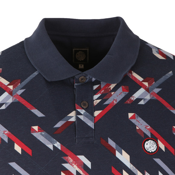 Pretty Green Mens Blue Kirby Polo Shirt main image