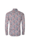 Pretty Green Mens Blue Camley Paisley Shirt
