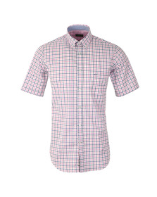 Paul & Shark Mens Pink Linen Mix Short Sleeve Shirt