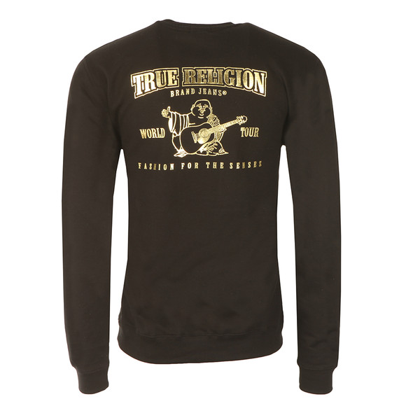 True Religion Mens Black Gold Logo Sweathshirt main image