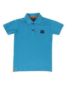 Paul & Shark Boys Blue Plain Pique Polo Shirt