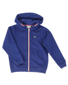 Lacoste Boys Blue SJ2970 Full Zip Hoody
