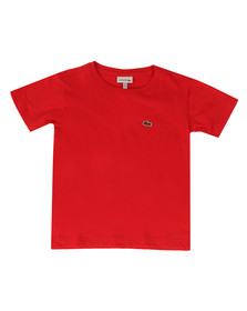 Lacoste Boys Red TJ2616 Plain T Shirt