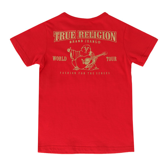 True Religion Boys Red Gold Buddha Logo Tee main image