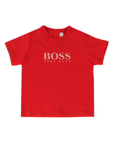 Boss Boys Red Baby BOSS Logo T Shirt