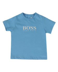 Boss Boys Blue Baby BOSS Logo T Shirt