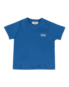 Boss Boys Blue Baby Embroidered T Shirt
