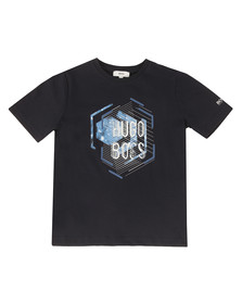 Boss Boys Blue Boys Large Logo Crew Neck T Shirt