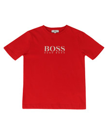 Boss Boys Red Boys BOSS  Logo T Shirt