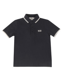 Boss Boys Blue Baby Tipped Polo Shirt